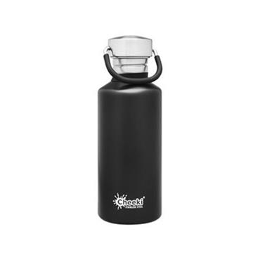Cheeki Active Single Wall Bottle Matte Black 500ml