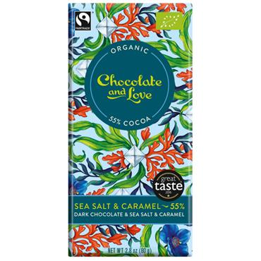 Organic Dark Chocolate with Caramel & Sea Salt 80g