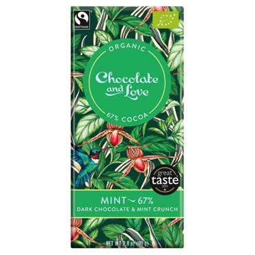Organic Dark Mint Chocolate 80g