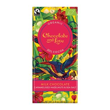 Chocolate and Love Hazelnut Milk Choc 50%  80g