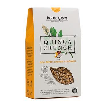 Homespun Quinoa Crunch Goji & Coconut Cashew 275g