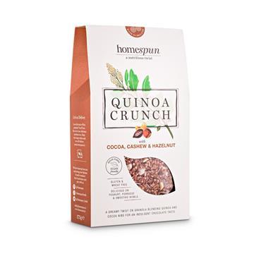 Homespun Quinoa Crunch Cocoa Cashew & Hazelnut 275g