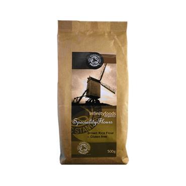 Infinity Foods  Organic Gluten Free Brown Rice Flour 500g
