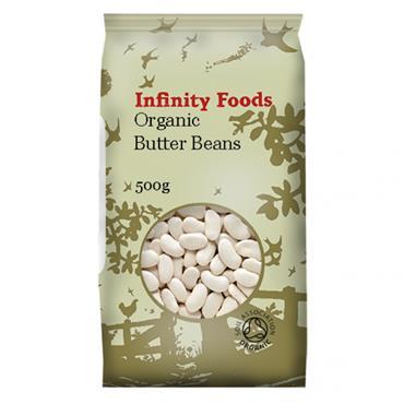 Infinity Foods  Organic Butter Beans 500g