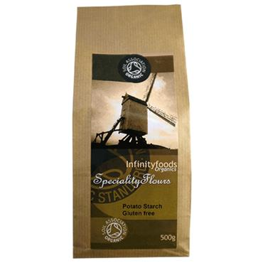 Infinity Foods  Organic Gluten Free Potato Starch Flour 500g
