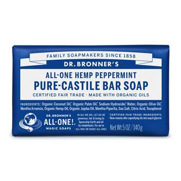 Dr. Bronner's Peppermint Bar Soap 140g