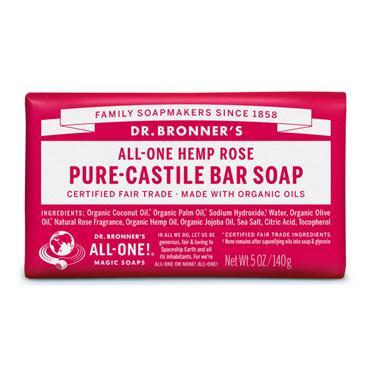 Dr. Bronner's Rose Bar Soap 140g