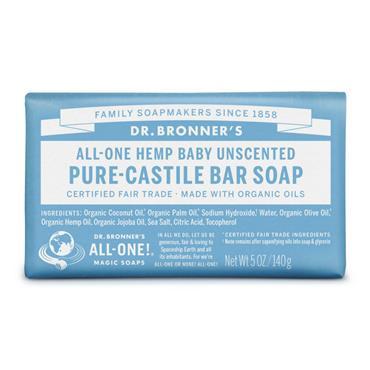 Dr Bronners Baby Mild Castile Bar Soap 140g