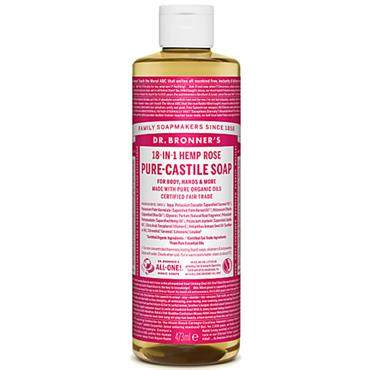 Dr Bronners Rose Pure Castille Liquid Soap 473ml