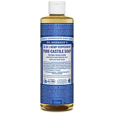 Dr Bronners Peppermint Pure Castille Liquid Soap 473ml