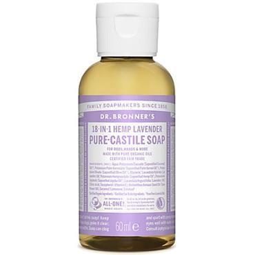 Dr Bronners Lavender Pure Castille Liquid Soap 60ml