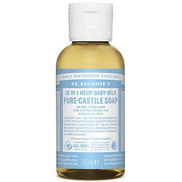 Dr Bronners Baby Mild Pure Castille Liquid Soap 60ml