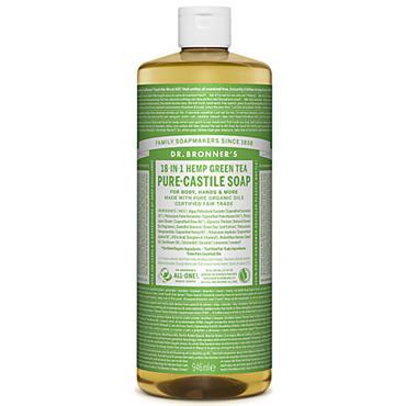 Dr Bronners Hemp & Green Tea Pure Castille Liquid Soap 946ml