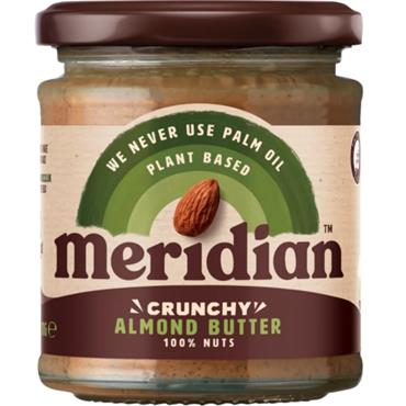 Meridian Crunchy Almond Butter (No Salt) 170g