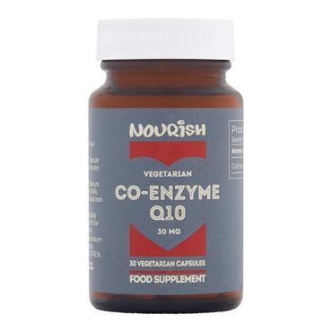 Nourish Co-Enzyme Q10 30 mg 30 Capsules