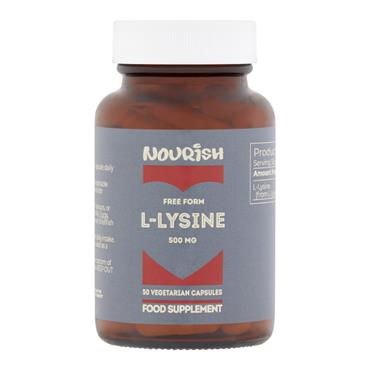 Nourish L-Lysine 500 mg Veg Caps 50s