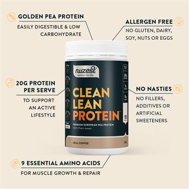 Nuzest Clean Lean Protein Real Coffee 500g