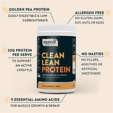 Nuzest Clean Lean Protein Functional - 500g Chai Turmeric + Maca