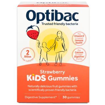 Optibac Live Cultures Microbiotic Kids Gummies - Strawberry 30s