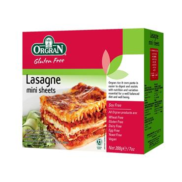 Orgran Gluten Free Rice & Corn Mini Lasagne Sheets 200g