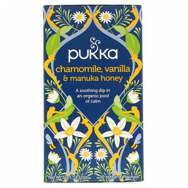 Pukka Chamomile, Vanilla & Manuka Honey Tea 20 teabags