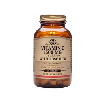 Solgar Vitamin C with Rose Hips 1500mg 90 Tablets