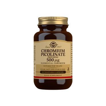 Solgar Chromium Picolinate 500ug 60 Capsules