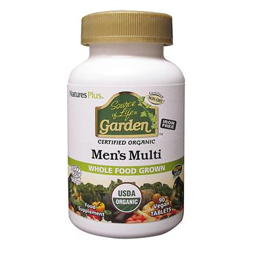 Nature's Plus Source of Life Garden Organic Mens Multi Tablets 90s