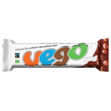 Vego Whole Hazelnut Chocolate Bar 150g