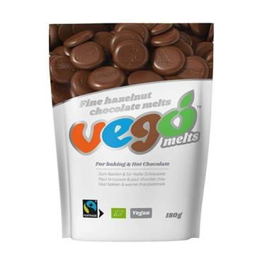 VEGO Organic Chocolate Hazelnut Melts 180g