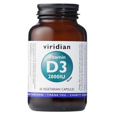 Viridian Vitamin D3 Vegan 2000iu 60s