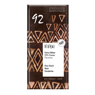 Vivani Dark Chocolate 92% Cocoa 80g