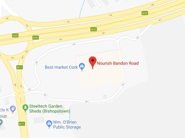 Nourish Bandon Road Cork location map