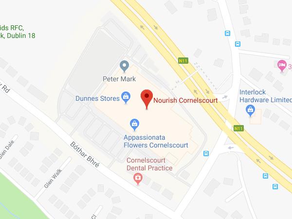 Nourish Cornelscourt location map