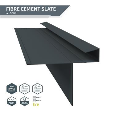 Slate Dry Verge Alu. (T2) 18mm Black