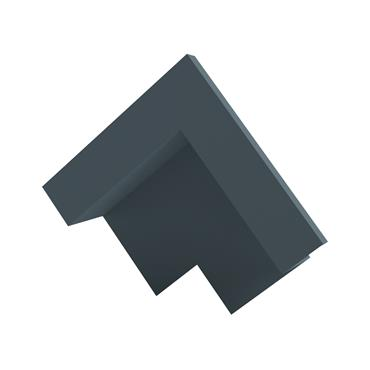 Slate Dry Verge Apex Unit Alu. 25mm (105 deg) Blue/ Black