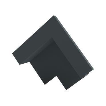 Slate Dry Verge Apex Unit Alu. 25mm (105 deg) Black