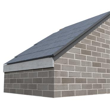 Slate Dry Verge (T2) PVC 25mm Black