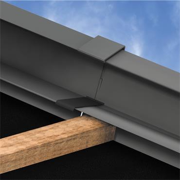 Tile Dry Verge System PVC (45mm) Black 3m
