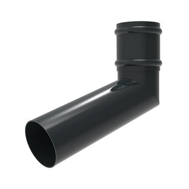 Round Aluminium Downpipe Offset Bend (500mm) with Socket 100mm RAL 7016