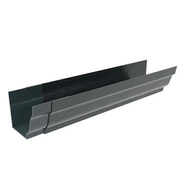 Ogee Aluminium Gutter 125mm x 3m (welded Jointer) RAL Textured Black