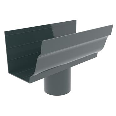 Ogee Aluminium Gutter Outlet (100mm Round) 125mm RAL 7016