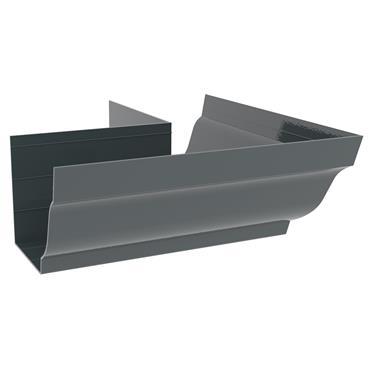 Ogee Aluminium Gutter External 90 deg Bend 125mm RAL 7016