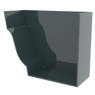 Ogee Aluminium Gutter Stopend Internal (Right Hand) 125mm RAL 7016