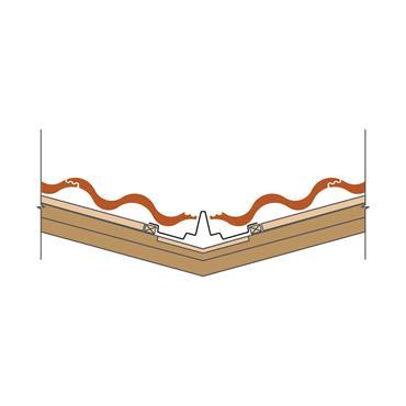 Dry Fix Valley Trough GRP (70mm) over batten fix 400 x 3000mm