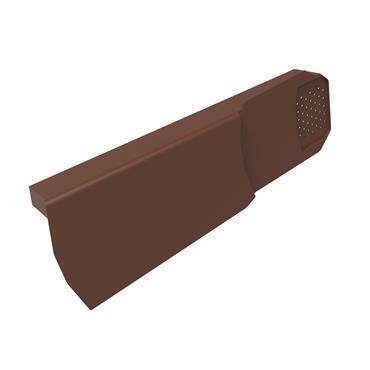 Uni-Fix Dry Verge Unit (RH) Brown (pack of 10)