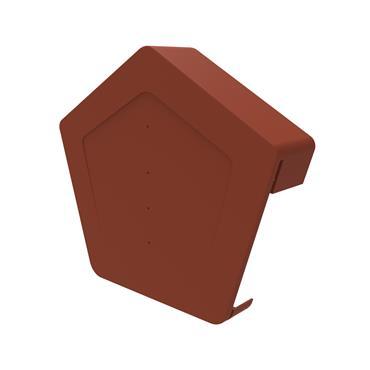 Uni-Fix Universal Angled Ridge Cap Terracotta