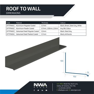 Roof to Wall Flashing (4 x 2.4m)