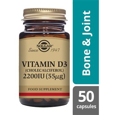 Solgar Vitamin D3 2200 IU tablets 50s