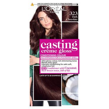 L'Oreal Casting Creme Gloss 323 Dark Chocolate Brown Semi Permanent Hair Dye
